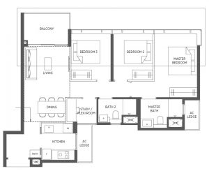 Parc-Esta-Floor-Plan-3BRS-CU1-958sqft