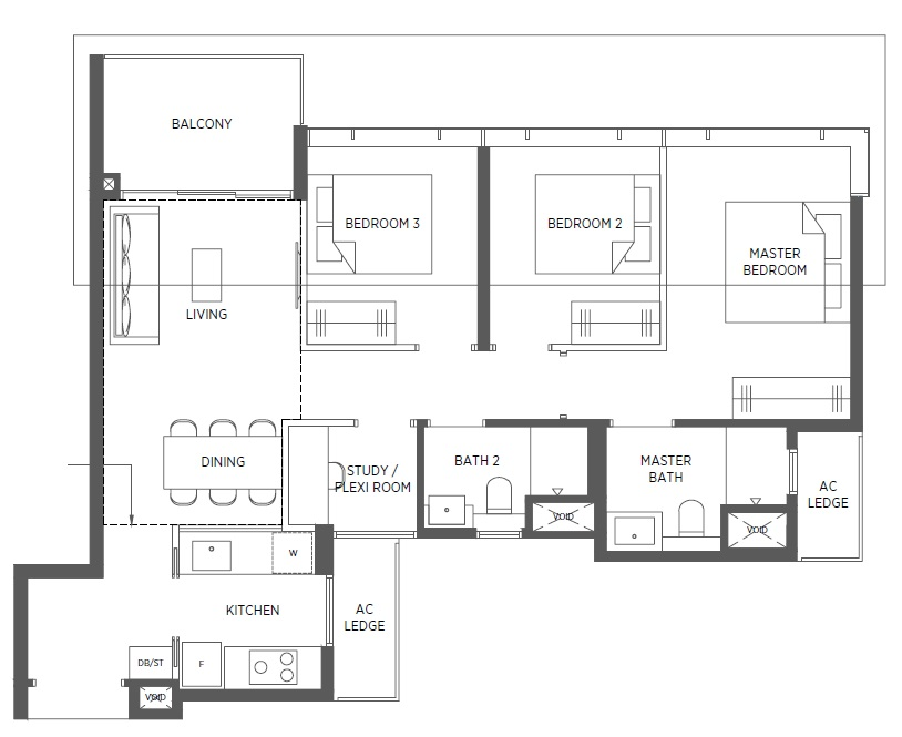 Parc-Esta-Floor-Plan-3BRS-CU1-958sqft