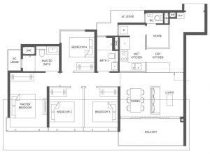 Parc-Esta-Floor-Plan-4BR-Premium-DP-1227sqft